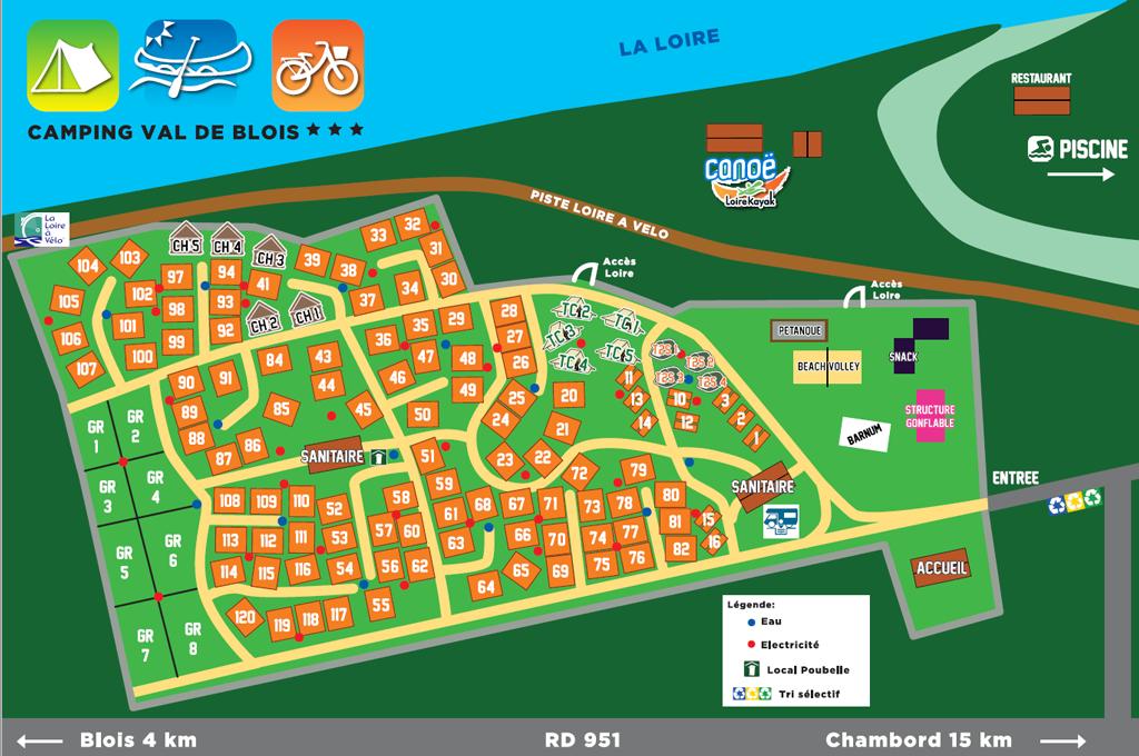 Plan Camping Loisir Blois
